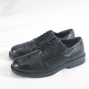 NUNN BUSH Black Leather Cap Toe Oxford Dress Shoes